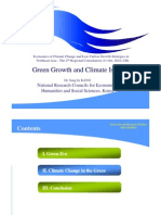Green Growth and Climate Issues