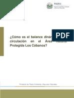 Cómo es el balance dinámico de la circulación en el Área Natural Protegida Los Cóbanos El Salvador