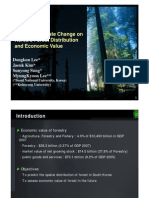 Impact of Climate Change on Korea's Forest Distribution and Economic Value