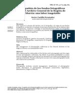 La gestión de los fondos fotográficos  en el Archivo General de la Región de  Murcia