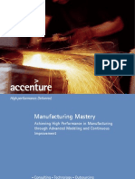 Accenture Manufacturing Mastery Executive Overview