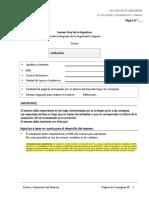 Modelo EXAMEN FINAL Gestión Integrada de La Seguridad e Higiene