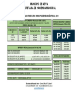 Calendario Tributario 2019 Resumen