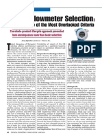 Beyond Flowmeter Selection Consider Some of the Most Overlooked Criteria