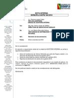 Remision de Documentacion Auditoria Interna