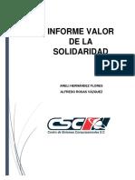 Valor de La Solidaridad