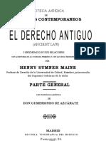 Maine - 1861, El Derecho Antiguo.pdf