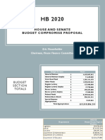 HB2020 - House and Senate Budget Compromise Proposal