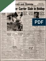 Decatur Mail Carrier Slain 1949.