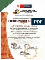 Certificado de Egresado