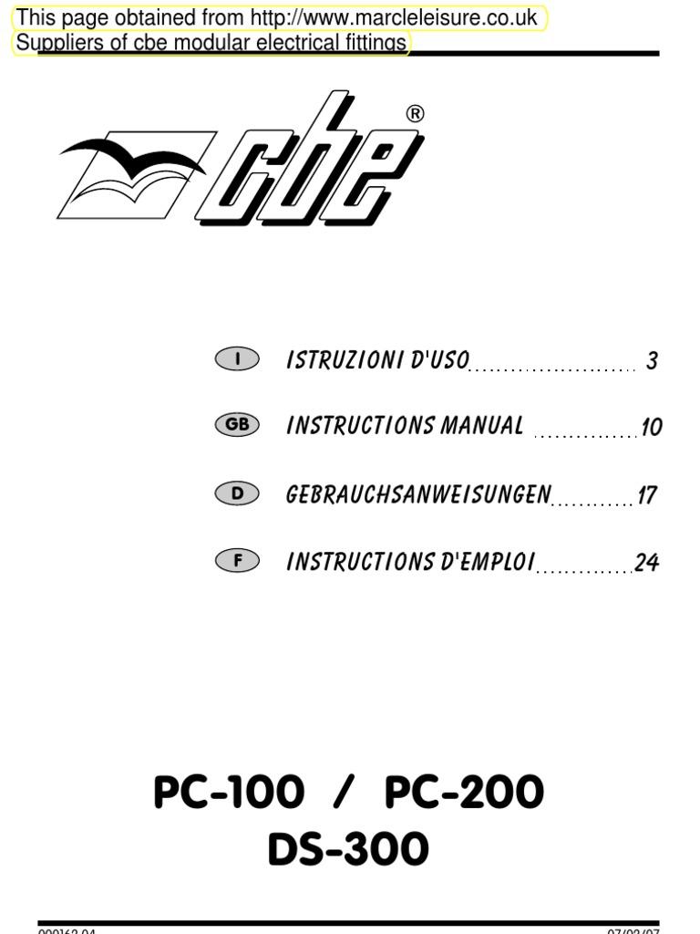 Pc100 Pc200 Ds300 En Circuits