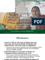 Closing the Divide in Access to Palliative Care and Pain Relief