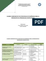 Cuadro Comparativo de Estrategias de Enseñanza Para La Promoción de Aprendizajes Significativos