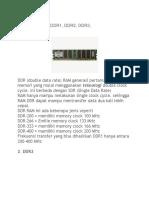 Perbedaan RAM DDR1