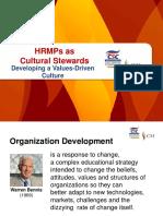 HRMPs as Cultural Stewards