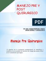 MANEJO PRE POST QUIRURGICO