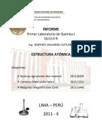 Informe I -Quimica 1 - FIGMM