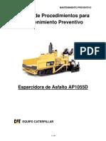 Manual de Procedimientos Esparcidora de Asfalto Ap1055d