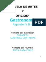 APUNTES DE GASTRONOMIA (CHOCOLATERIA)