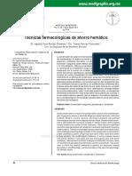 Tecnicas Farmacologicas de Ahorro Hematico