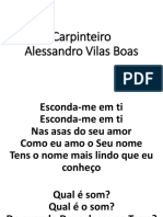 Carpinteiro - Alessandro Vilas Boas