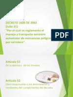 Decreto 1609 de 2002 GRUPO 6