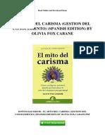 El Mito Del Carisma Gestion Del Conocimiento Spanish Edition by Olivia Fox Cabane