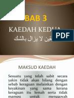 04 Kaedah Ke-2 (Al-Yakin La Yazal Bi Al-Syak)