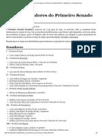 Lista de senadores do Primeiro Senado Brasileiro