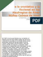 De Lo Cronístico y Lo Ficcional en Los Naufragios 2018