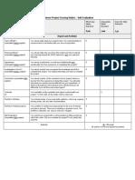 capstone project scoring rubric - self evaluation