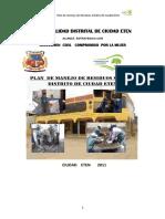 Plan de Manejo de Residuos Solidos Eten 2011