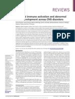 Maternal immune activation and abnormal brain development across CNS disorders
