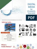Digital media for students, teachers and academia