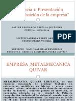 """Evidencia 1 Presentación """"Caracterización de La Empresa"""""""