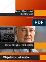 Existe Un Marxismo Ecológico