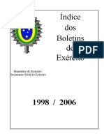 Boletins do Exército, 1998-2006