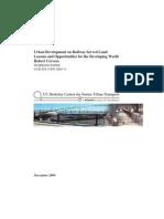 Urban Development on Railway‐Served Land