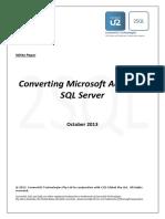2SQL WhitePaper - Converting Microsoft Access to SQL Server