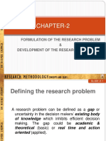 Ch. 2 - Formulation of the Research Problem