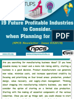 19 Future Profitable Industries to Consider, when Planning for Startup