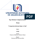 Ensayo Unix vs Linux