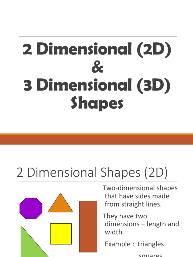 2D and 3D Shapes ppt