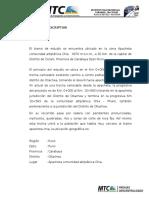 Memoria Descriptiva Trocha Carrozable Altiplano - Chia
