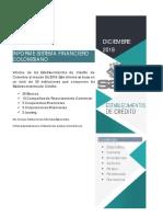Informe Establecimientos de Credito Colombia Dic18