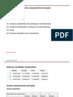 EXEMPLU Analiza Componentelor Principale