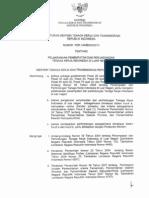 Permenakertrans No.14/MEN/X/2010 tentang Pelaksanaan PPTKILN