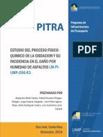 Baldi A. et al (2016) Estudio del proceso físico químico de la oxidación y su incidencia en el daño por humedad de asfaltos