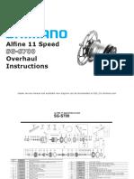 Shimano Alfine 11 SG-S700 Overhaul Instructions