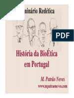 2017 a História Da BioÉtica Em Portugal Castelo Branco